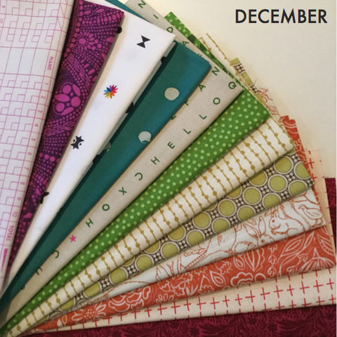Fat Quarter Bundle - December Monthly Sparks bundle