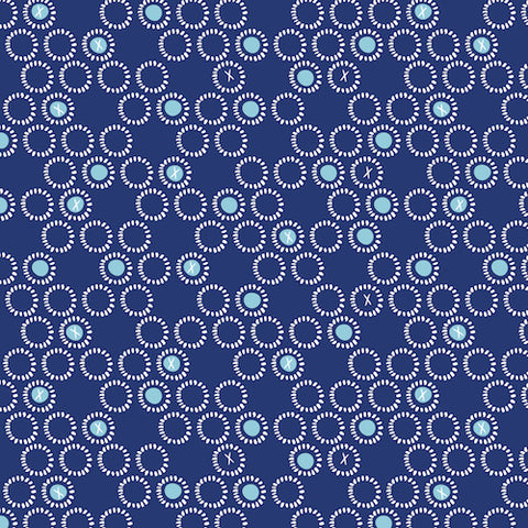 Dashwood Studios Ditsies - Circles in Navy