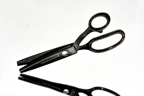 LDH Scissors - Midnight Edition Pinking Shears 9""