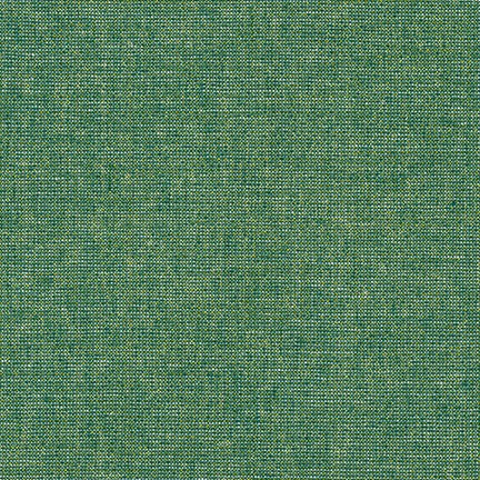 Essex Yarn Dyed linen/cotton - Emerald Metallic