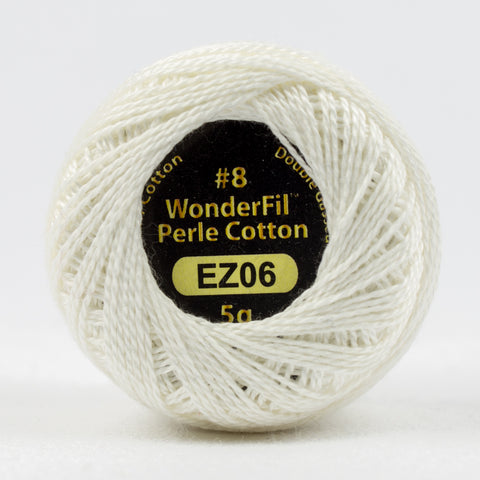 Wonderfil Eleganza Perle Cotton 8wt. - First Snow 6