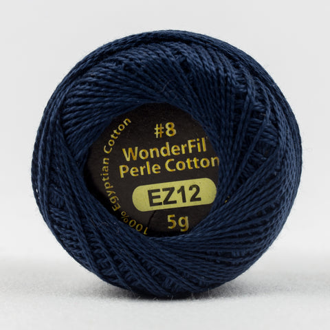 Wonderfil Eleganza Perle Cotton 8wt. - Navy 12