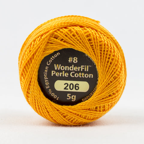 Wonderfil Eleganza Perle Cotton 8wt. - Plump Pumpkin 206