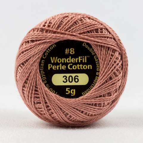 Wonderfil Eleganza Perle Cotton 8wt. - Rosy Tan 306