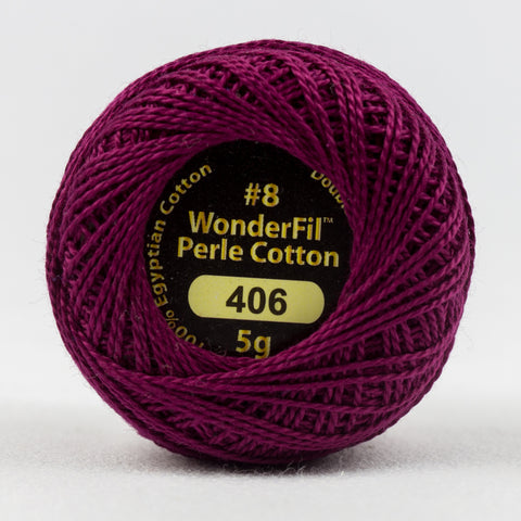 Wonderfil Eleganza Perle Cotton 8wt. - Grape Jelly 406