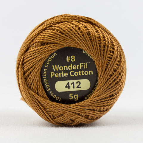Wonderfil Eleganza Perle Cotton 8wt. - Cured Leather 412