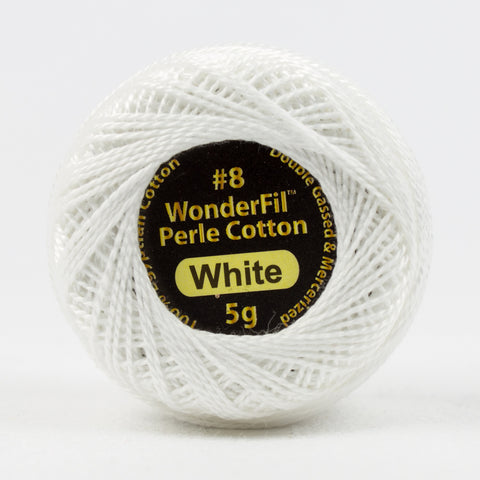 Wonderfil Eleganza Perle Cotton 8wt. - White