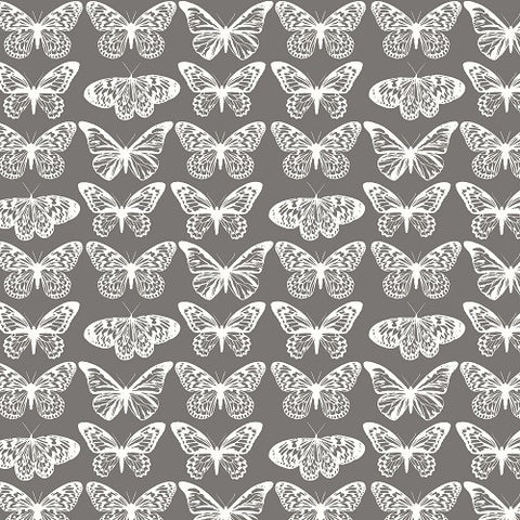 Fabscraps Serenity Butterfly grey