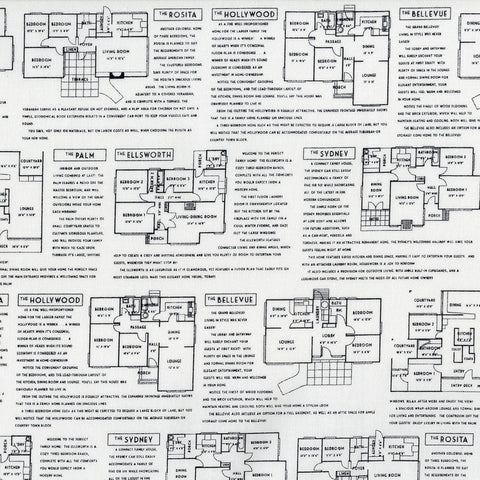 Fine Print - Floor Plans - Black on White