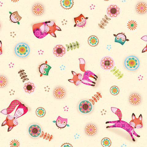Friendly Forest - Foxes & Owls Multi