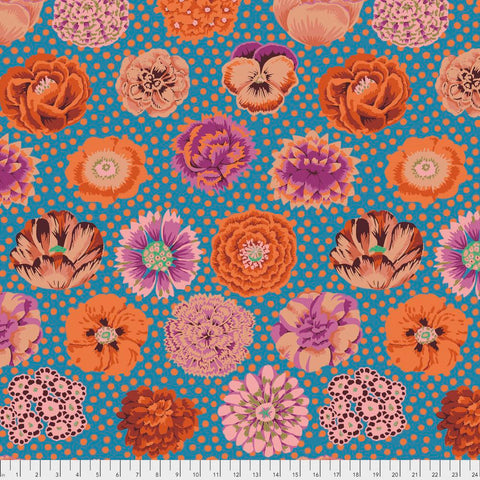 Kaffe Fassett Collection Big Blooms in Turquoise