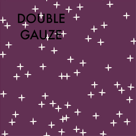 Birch Fabric - Wink Double Gauze - Dark Plum