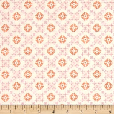 Woodland Clearing by Liesl Gibson - Cotton Lawn - Geo Plaid in Ivory