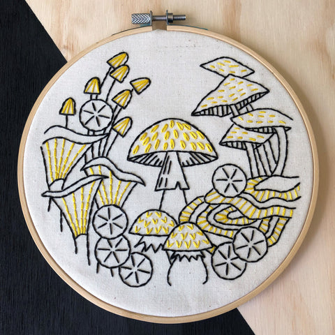 Hook Line & Tinker Embroidery Kit - Fungus Among Us