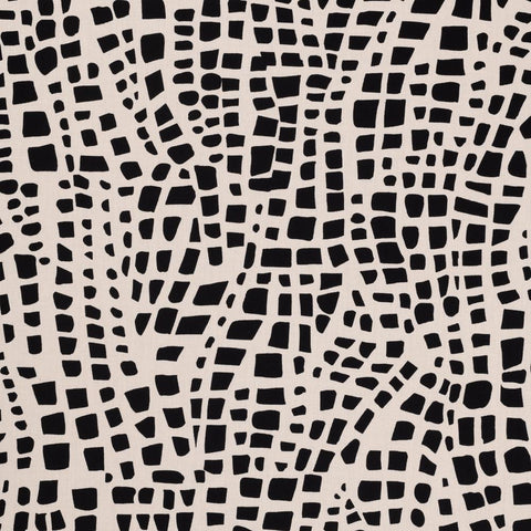 Holly Zollinger for Nerida Hansen - Bazaar Organic Quilting Cotton - Spots Maxima in Black