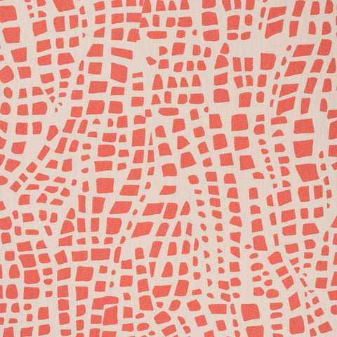 Holly Zollinger for Nerida Hansen - Bazaar Organic Quilting Cotton - Spots Cosmic in Red