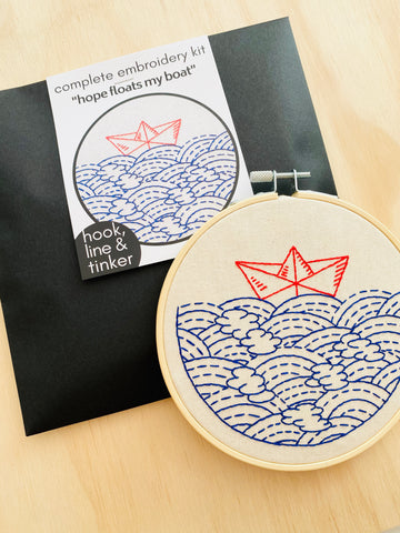 Hook Line & Tinker Embroidery Kit - Hope Floats