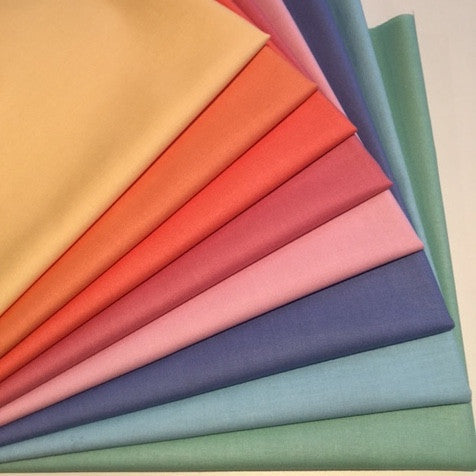 Half Yard Bundle - Free Spirit Designer Solids - Pastel Rainbow