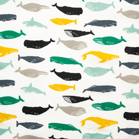 "Birch Fabrics ""Tonoshi"" Organic Cotton - Kujira Boy"
