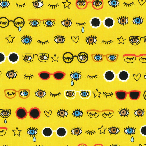 Kokka Body Parts - Peepers in Yellow