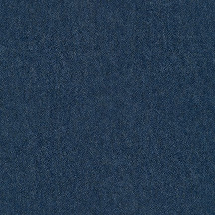 Robert Kaufman Laguna Cotton Jersey Heather - Navy