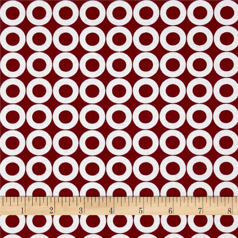 Spot On Burgundy Fabric by RK Studio
