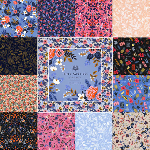 Designer Bundle of Les Fleurs Quilting Cotton by Rifle Paper Co