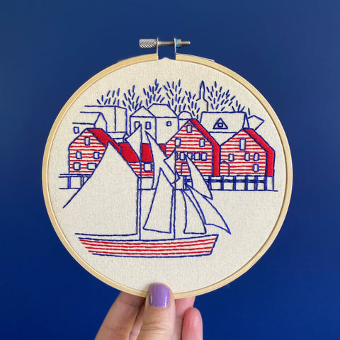 Hook Line & Tinker Embroidery Kit - Lunenburg