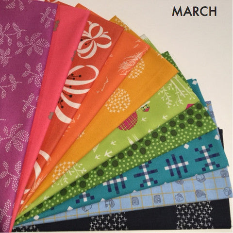 Fat Quarter Bundle - March Rainbow