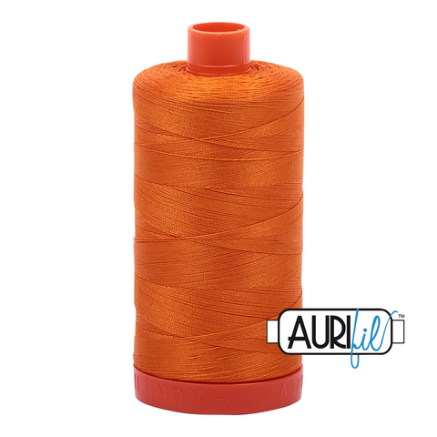 Aurifil Thread - 50wt 100% cotton  - colour 1133 Bright Orange
