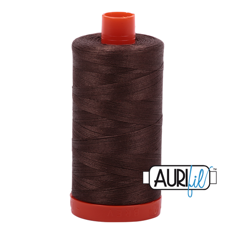 Aurifil Thread - 50wt 100% cotton  - colour 1140 Bark