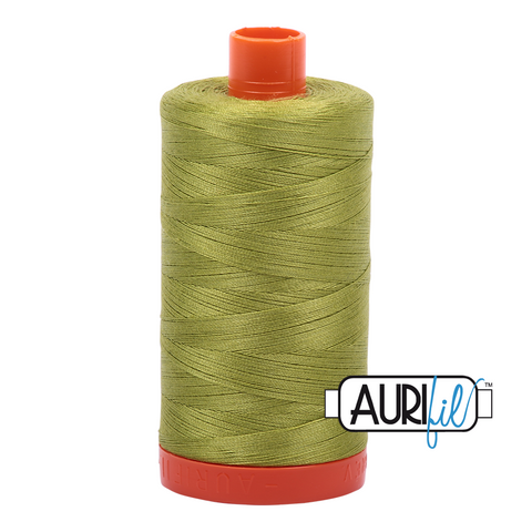 Aurifil Thread - 50wt 100% cotton  - colour 1147 Light Leaf Green