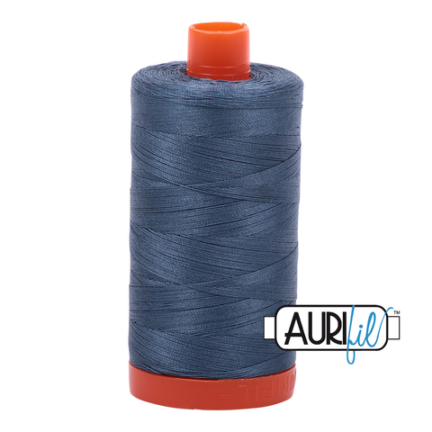 Aurifil Thread - 50wt 100% cotton  - colour 1310 Medium Blue Grey