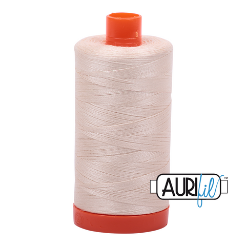 Aurifil Thread - 50wt 100% cotton  - colour 2000 Light Sand