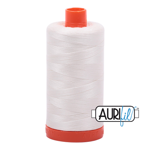 Aurifil Thread - 50wt 100% cotton  - colour 2026 Chalk