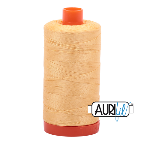 Aurifil Thread - 50wt 100% cotton  - colour 2130 Medium Butter