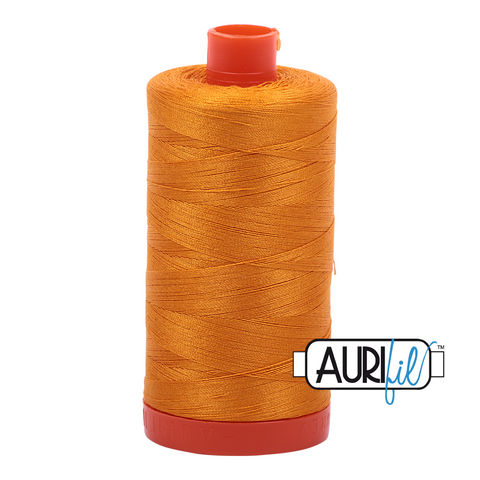 Aurifil Thread - 50wt 100% cotton  - colour 2145 Yellow Orange