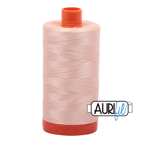 Aurifil Thread - 50wt 100% cotton  - colour 2205 Apricot