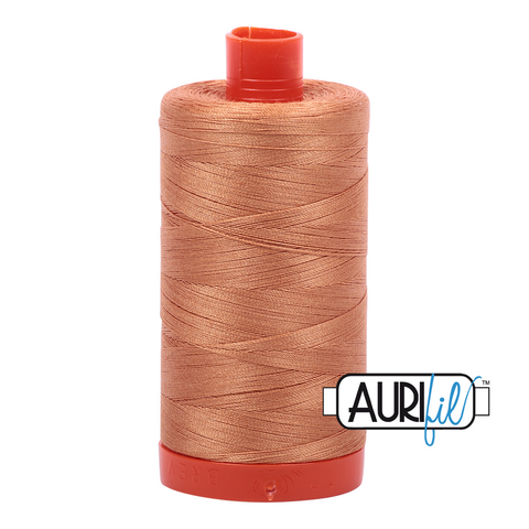 Aurifil Thread - 50wt 100% cotton  - colour 2210 Caramel