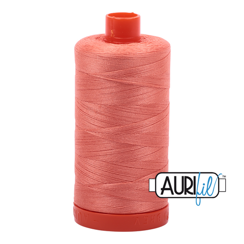 Aurifil Thread - 50wt 100% cotton  - colour 2220 Light Salmon