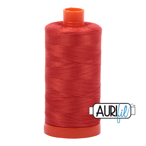 Aurifil Thread - 50wt 100% cotton  - colour 2245 Red Orange