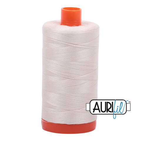 Aurifil Thread - 50wt 100% cotton  - colour 2309 Silver White