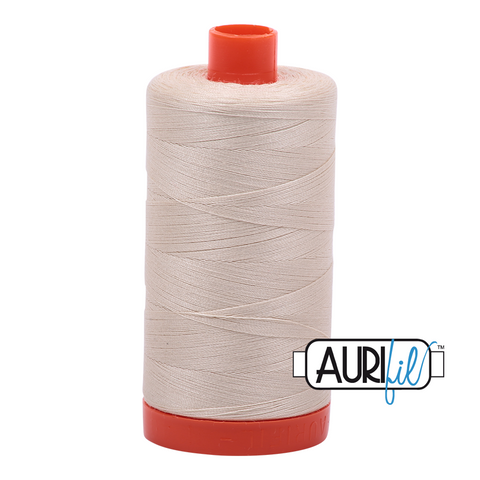 Aurifil Thread - 50wt 100% cotton  - colour 2310 Light Beige