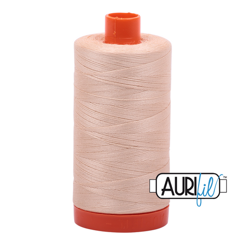 Aurifil Thread - 50wt 100% cotton  - colour 2315 Shell