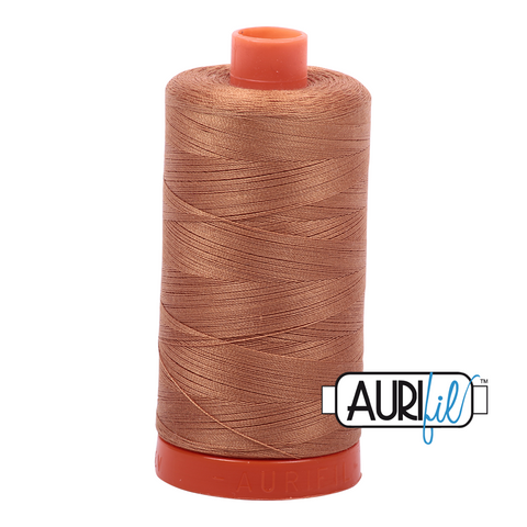 Aurifil Thread - 50wt 100% cotton - colour 2335 Light Cinnamon