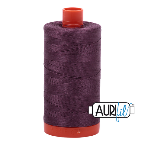 Aurifil Thread - 50wt 100% cotton  - colour 2568 Mulberry
