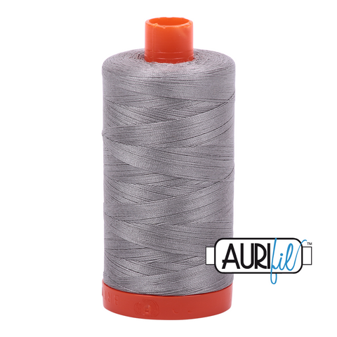 Aurifil Thread - 50wt 100% cotton  - colour 2620 Stainless Steel
