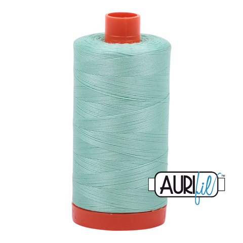 Aurifil Thread - 50wt 100% cotton  - colour 2835 Medium Mint
