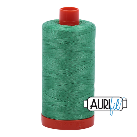 Aurifil Thread - 50wt 100% cotton  - colour 2860 Light Emerald