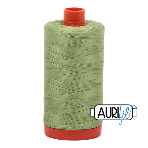 Aurifil Thread - 50wt 100% cotton  - colour 2882 Light Fern